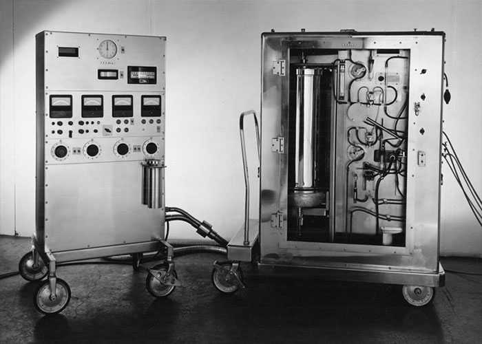 The first heart and lung machine