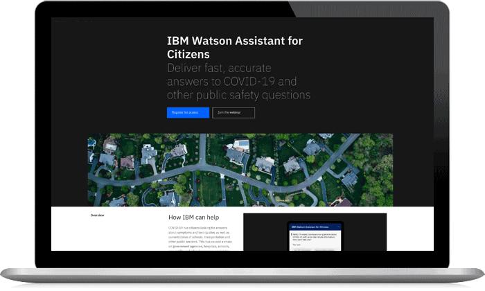 Capture d'écran d'IBM Watson Assistant for Citizens