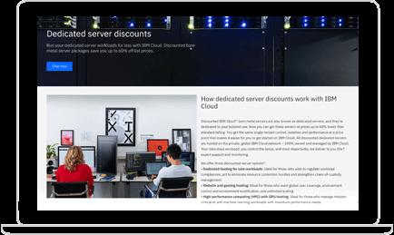 IBM Bare Metal Servers trial screenshot