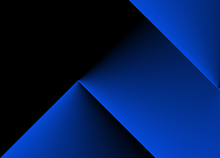 series of blue angular shapes against a dark background
