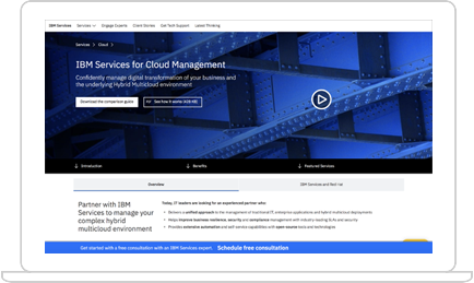 IBM Services for Cloud trial screenshot