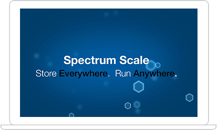 IBM Spectrum Scale trial screenshot