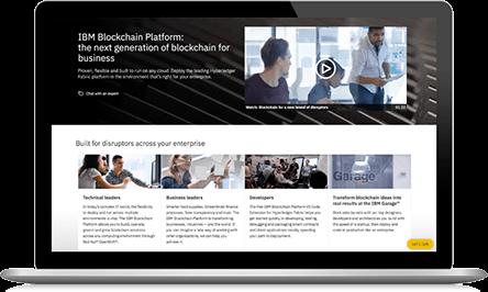 Captura de pantalla de IBM Blockchain Platform