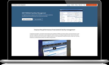 IBM TRIRIGA Facilities Management trial screenshot