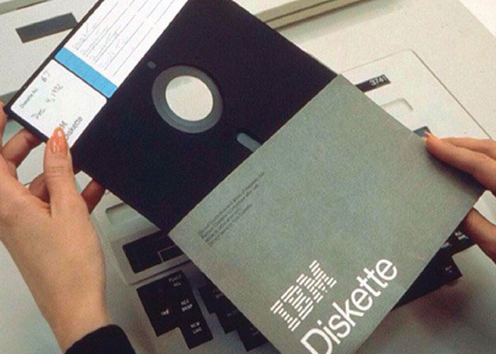The world's first floppy disc