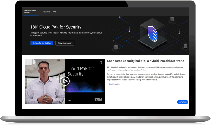 Screenshot from IBM Cloud Pak for Security