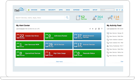 IBM MaaS360 with Watson screenshot