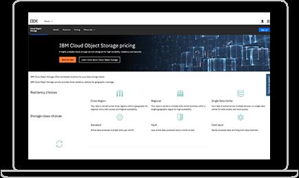IBM Cloud Object Storage screenshot