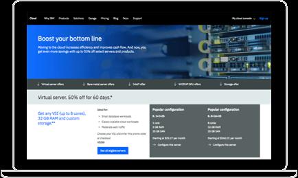 IBM Virtual Servers screenshot