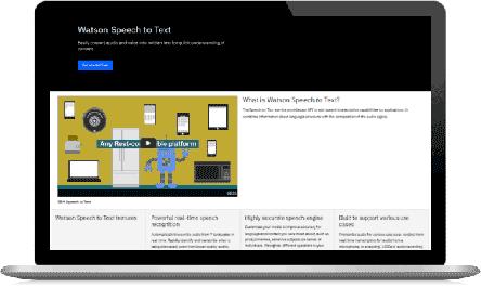 IBM Watson Speech to Text screenshot