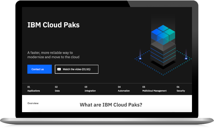 Screenshot from the IBM Cloud Pak for Automation