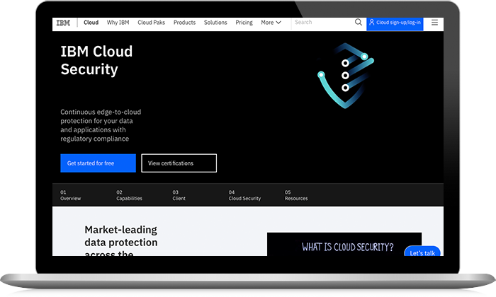 IBM Cloud Security screenshot