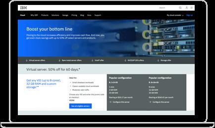 IBM Cloud Bare Metal Servers screenshot