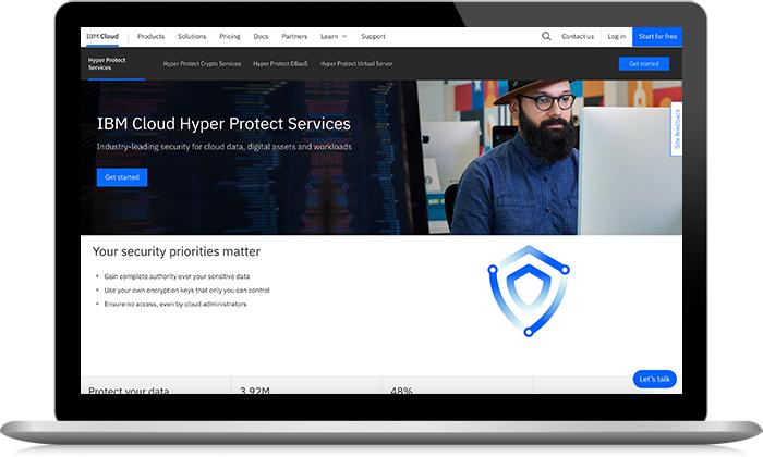 IBM Hyper Protect Services screenshot