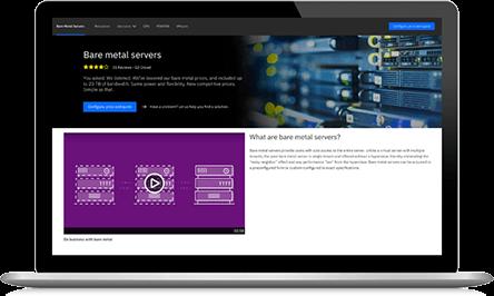 Screenshot from IBM Bare Metal Servers