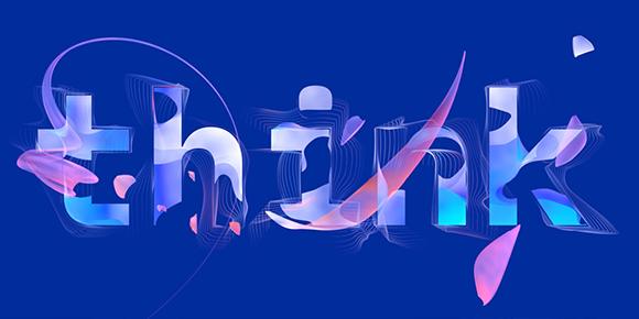 Think 2021 Logo auf blauem Hintergrund