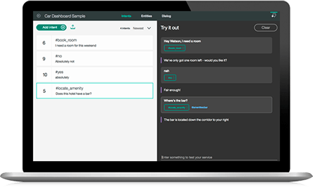 IBM Watson Assistant screenshot