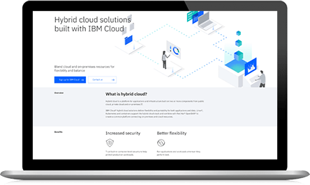 IBM Cloud trial screenshot