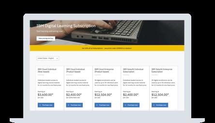 IBM Digital Learning Subscription