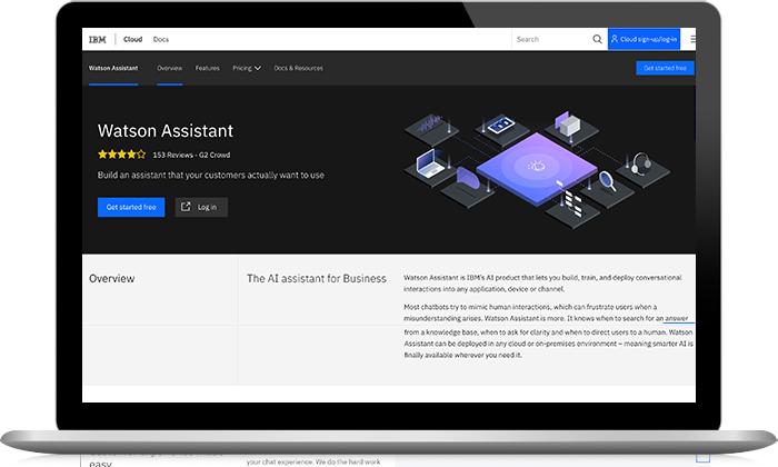IBM Watson Assistant screenshot